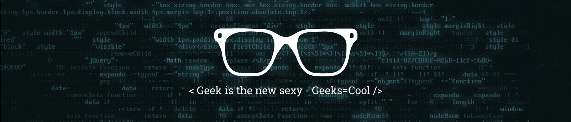 Geek is cool